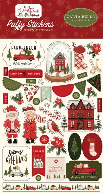 CBHC124066 - Hello Christmas Puffy Stickers
