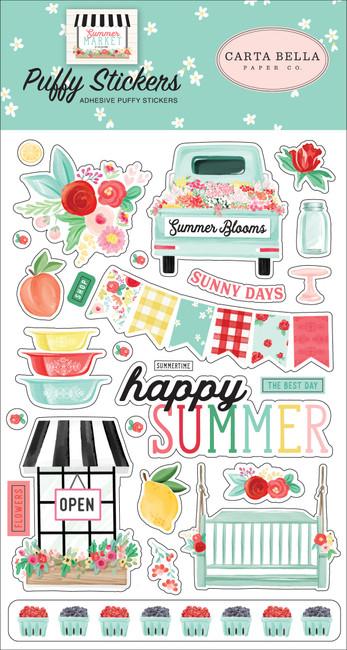 CBSUM115066 - Summer Market Puffy Stickers