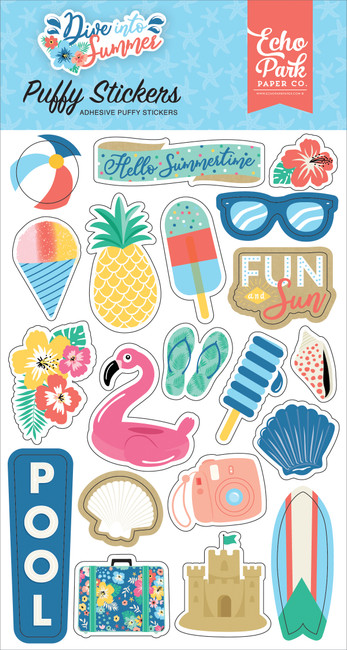 DIS221066 - Dive Into Summer Puffy Stickers