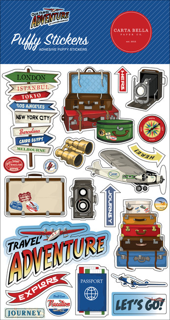 CBOTA131066 - Our Travel Adventure Puffy Stickers