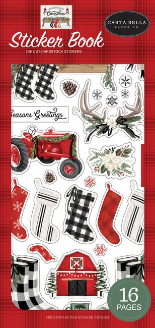CBFAC123029 - Farmhouse Christmas Sticker Book