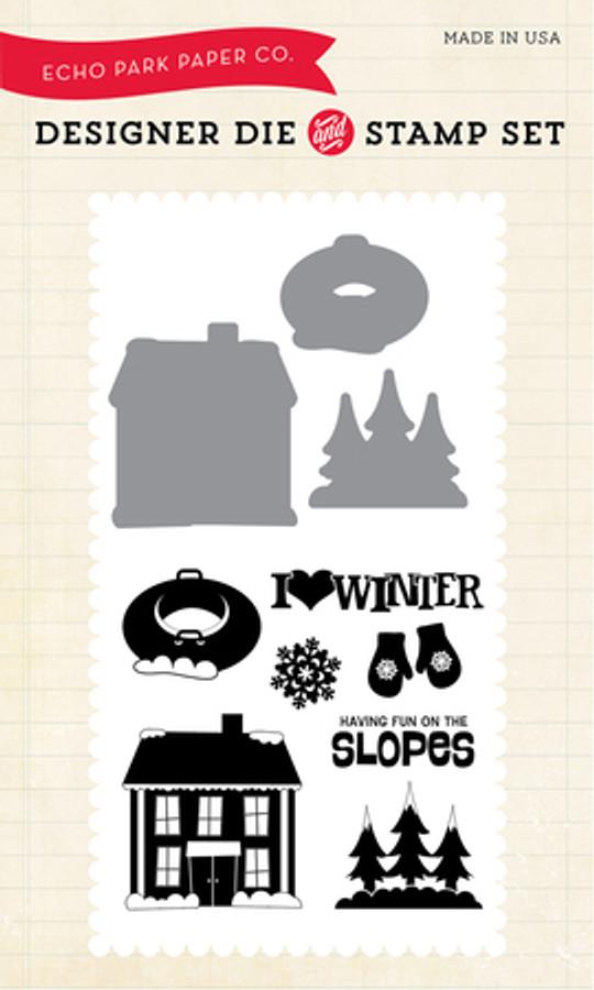 EPPDIE/STAMP32 - I Love Winter Die/Stamp Set