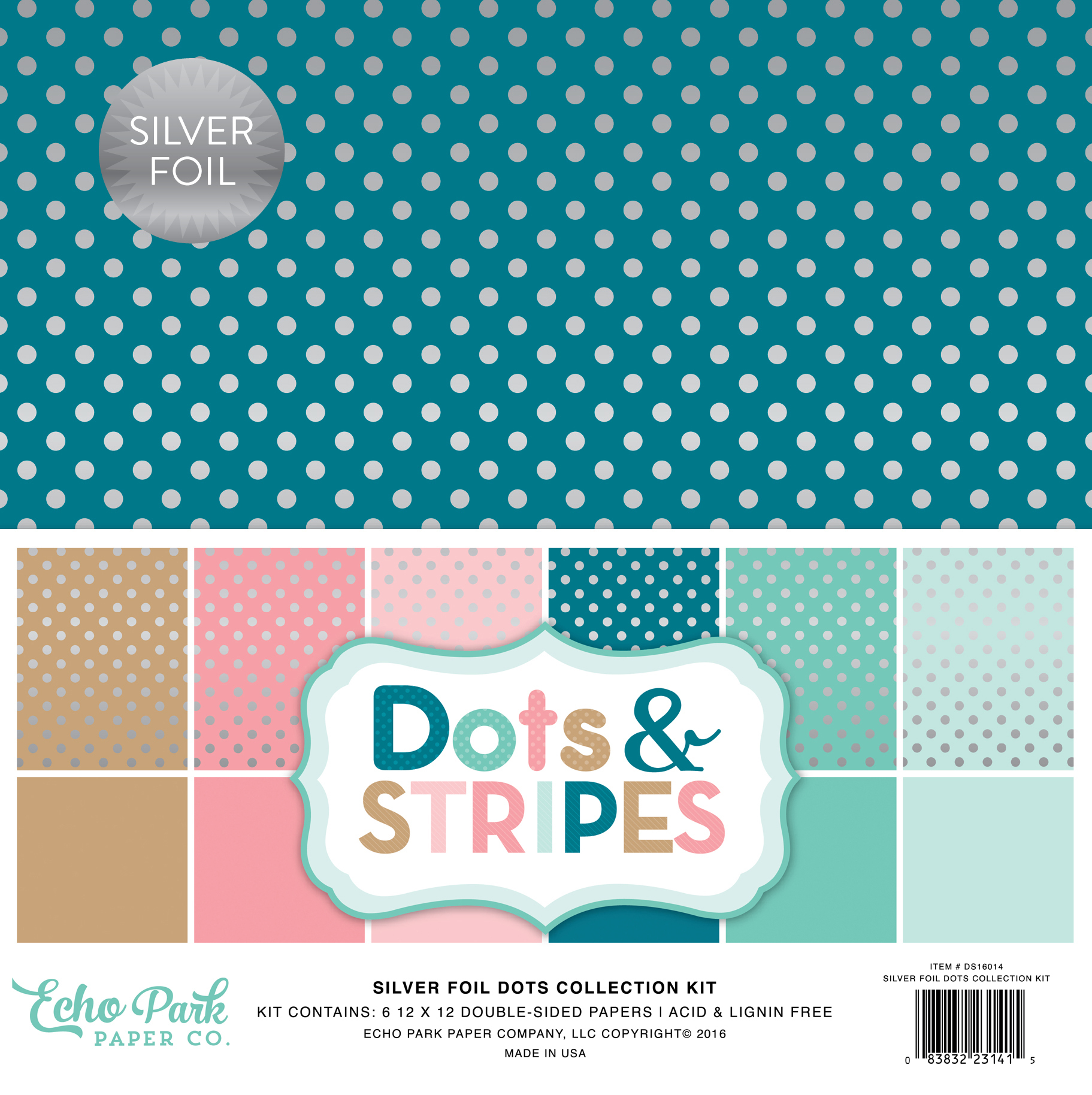 Dots & Stripes Silver Foil Dots