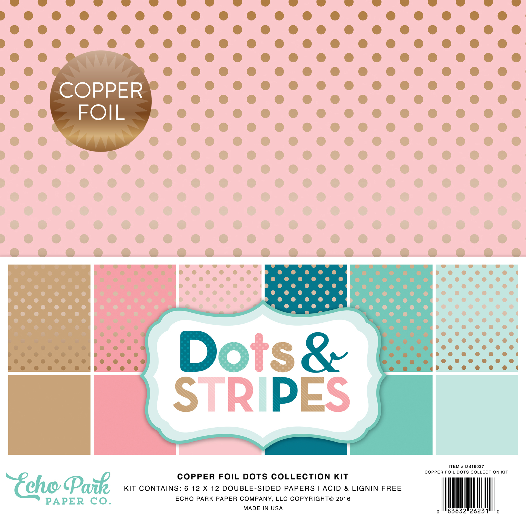 Dots & Stripes Copper Foil