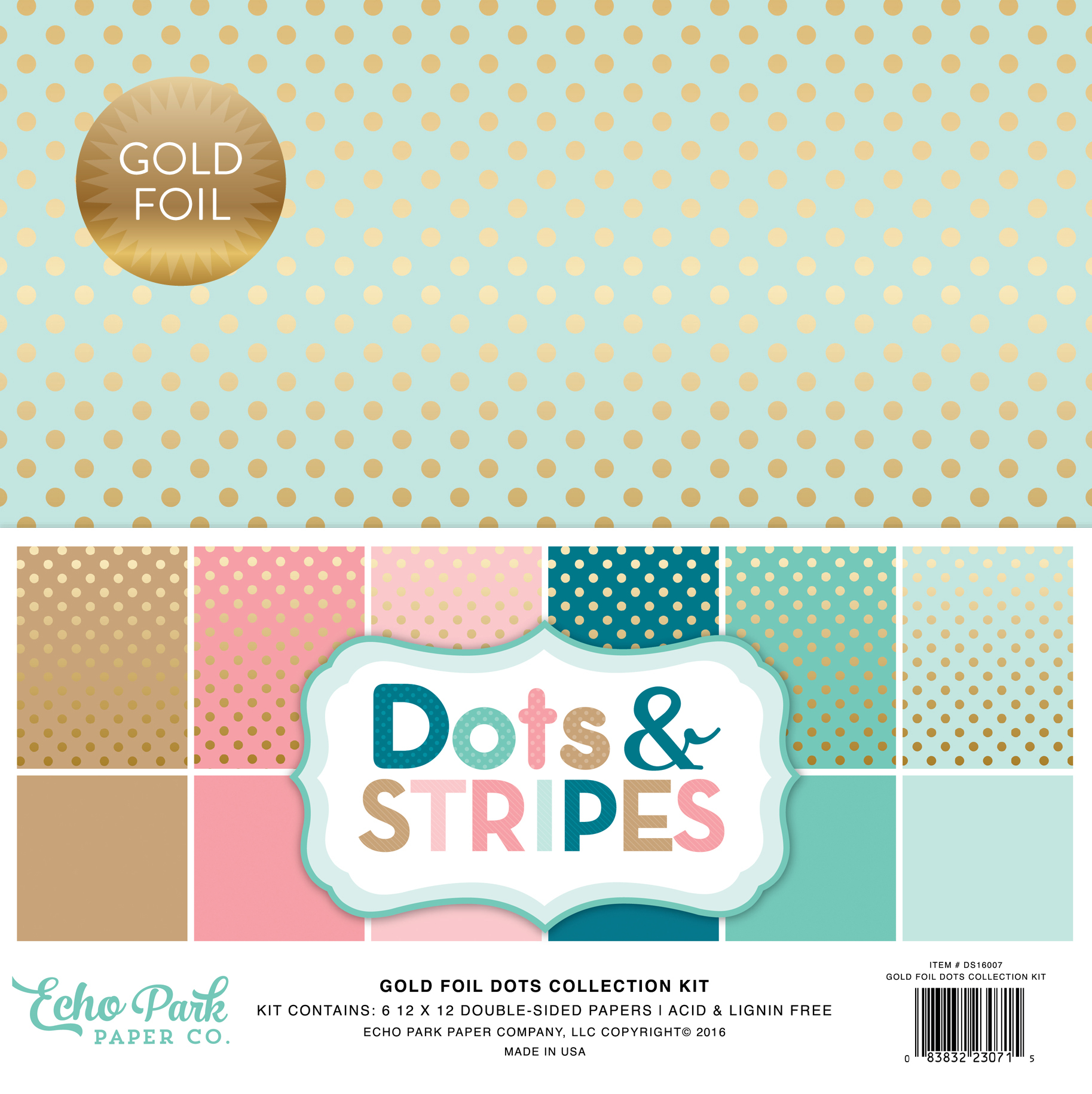 Dots & Stripes Gold Foil Dots