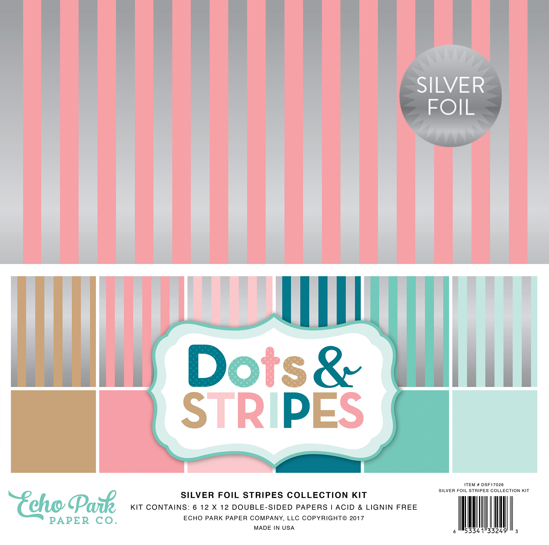 Dots & Stripes Silver Foil Stripes