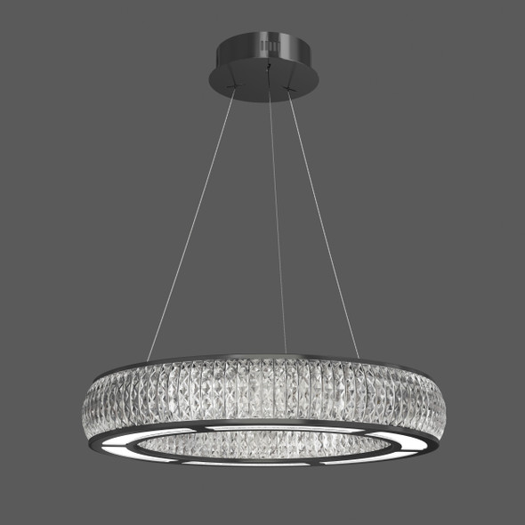 Modern LED Pendant Light in Black Finish Dimmable