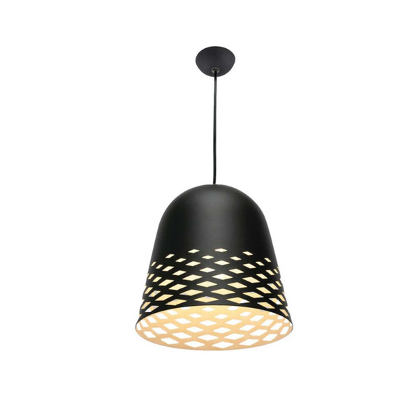 Diamond Cut Out Modern Ceiling Pendant Light in Matt Black