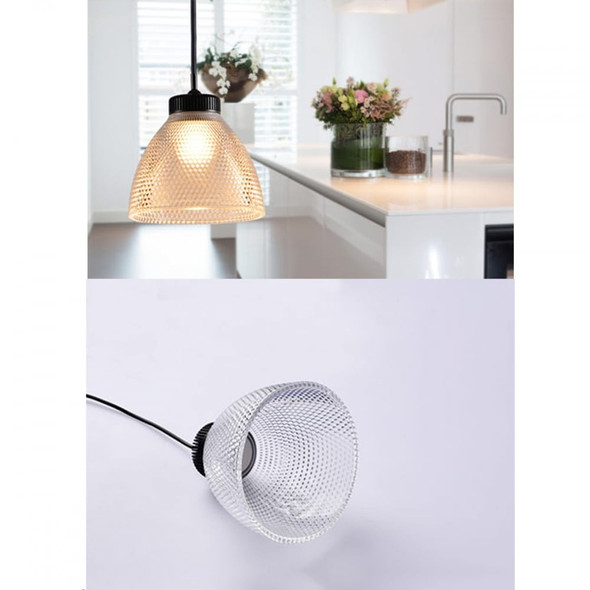 Modern Contemporary Single 5W LED Pendant Light with Diamond Cut Shade