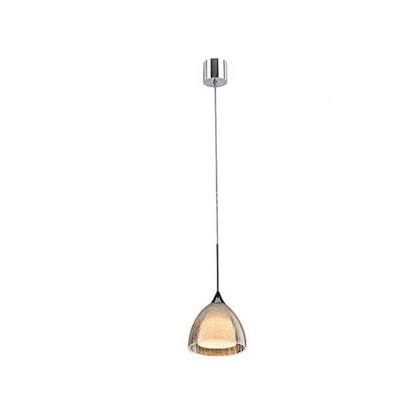 Modern Contemporary Single 5W LED Pendant Light in Crackle Effect Glass Shade