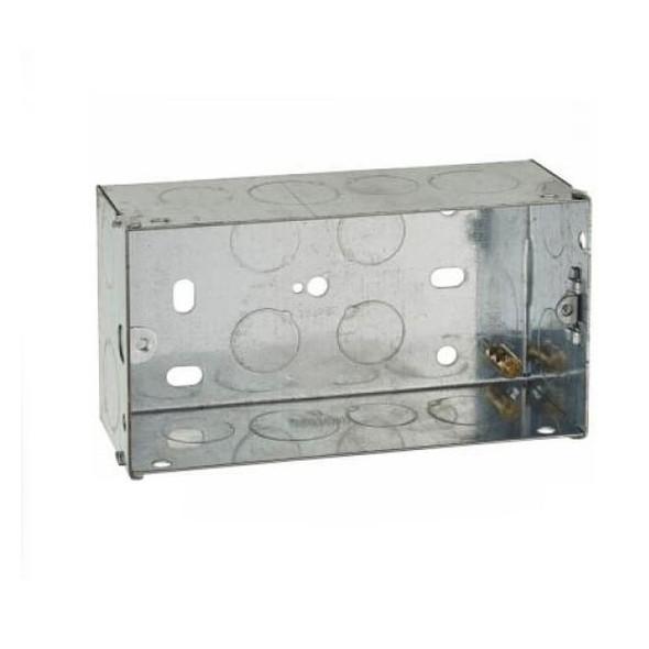 2 Gang 47mm Flush Back Box