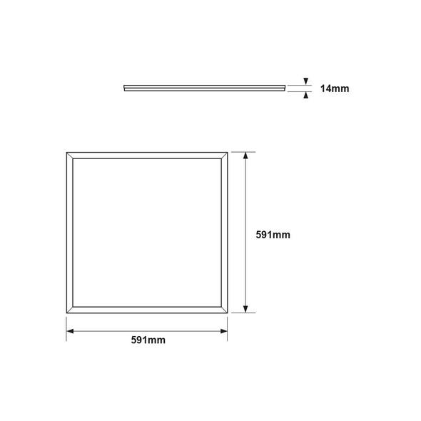 Edge Lit 6000K 600x600 LED Panel