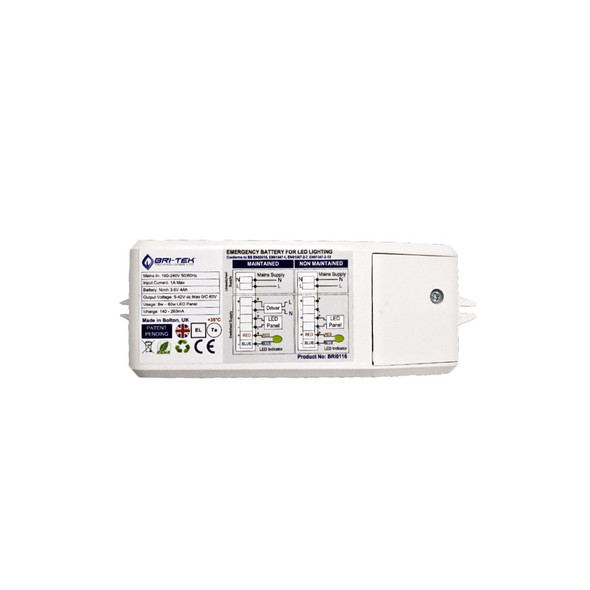 Emergency Battery Pack for LED Lights 3-80W