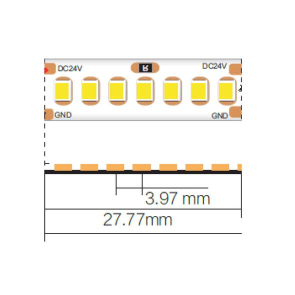 10mm 24V Cool White LED Strip 50m IP33 4000K