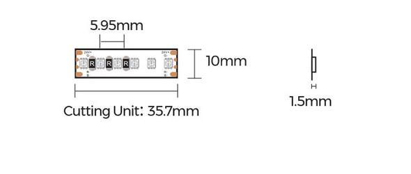 10mm 24V RGB LED Strip 5M