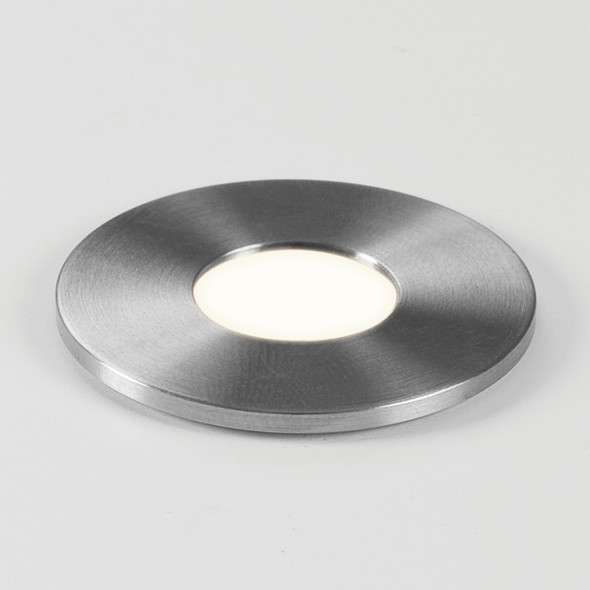 Terra Round 28 LED in Brushed Stainless Steel
