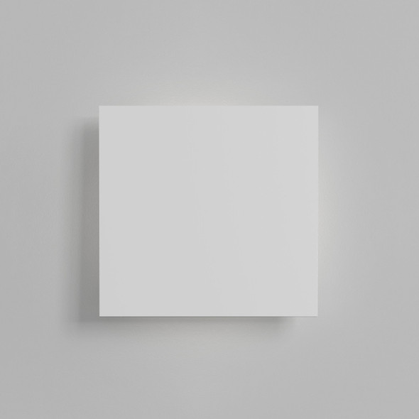 Eclipse Square 300 LED in Plaster