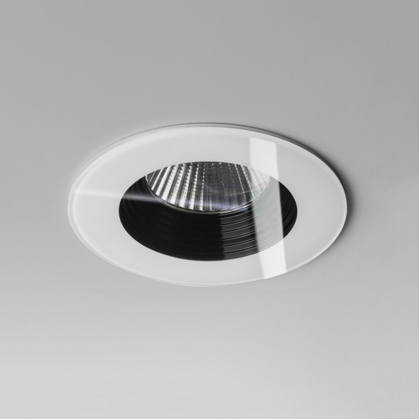 Vetro Round Fire-Rated in White