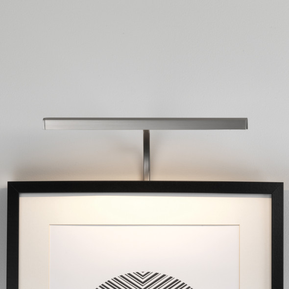 Mondrian 300 Frame Mounted LED in Matt Nickel
