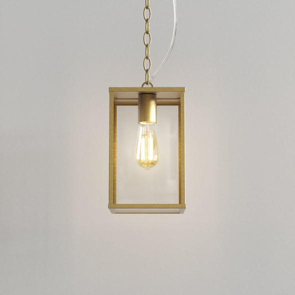 Homefield Pendant 240 in Natural Brass