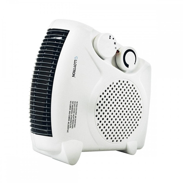 F2003WH Staywarm 2000W Upright / Flatbed Fan Heater (BEAB) with Two Heat Settings and Cool Blow, White