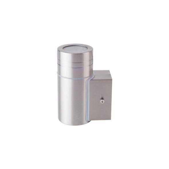 Outdoor Single Light IP44 GU10 Wall Light in Stainless Steel