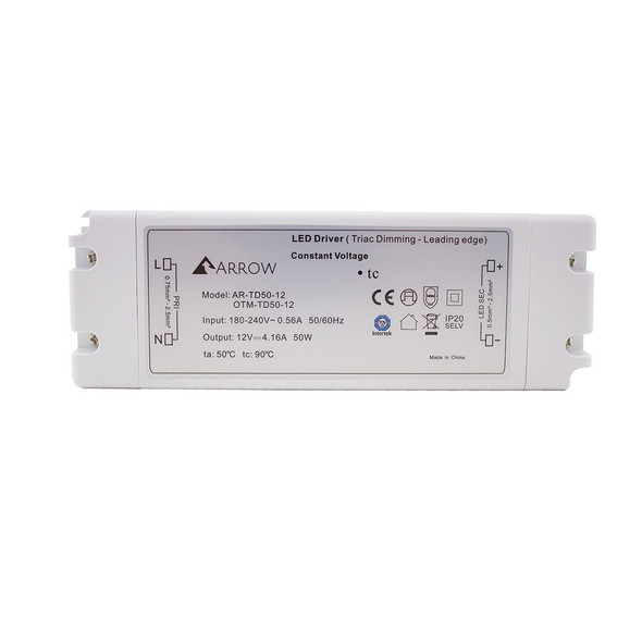 ELED50T/12V LED Triac Dimmable 12v Driver 50w Constant Voltage