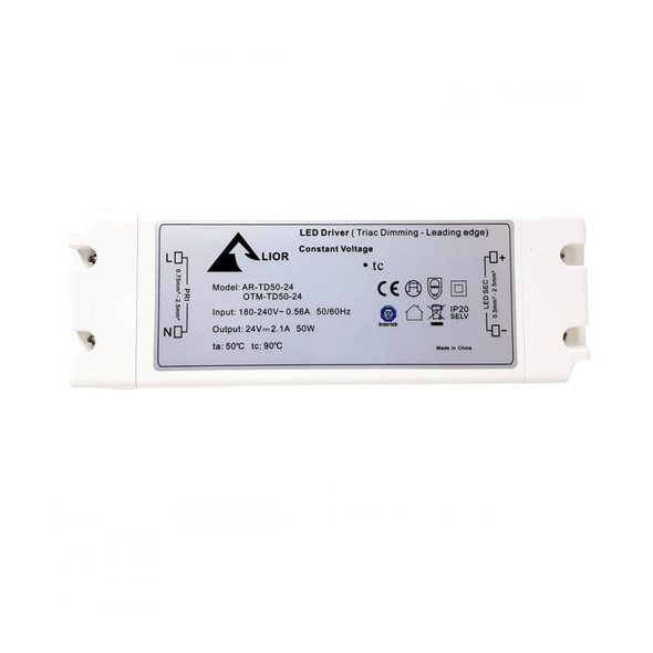 ELED50T/24V LED Triac Dimmable Driver 50w Constant Voltage