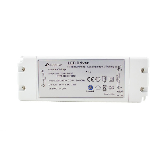 ELED25T/12V LED Triac Dimmable Driver 25w Constant Voltage