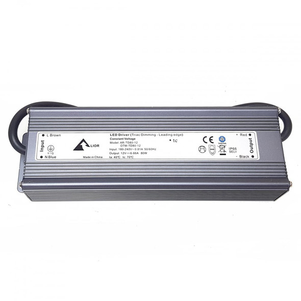 ELED8012T LED Triac Dimmable 12v Driver 80w Constant Voltage IP66
