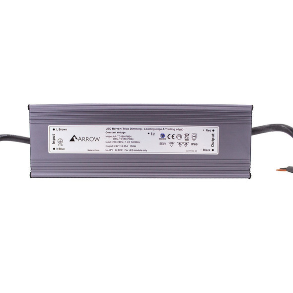 ELED15024T LED Triac Dimmable 24v Driver 150w Constant Voltage IP66