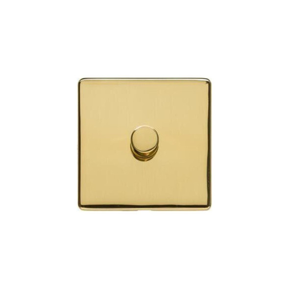 Studio Range 1 Gang Trailing Edge Dimmer in Polished Brass - Trimless - Y01.260.TED