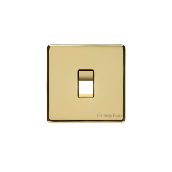 Studio Range 20 Amp DP Switch in Polished Brass - Trimless - Y01.205.PB