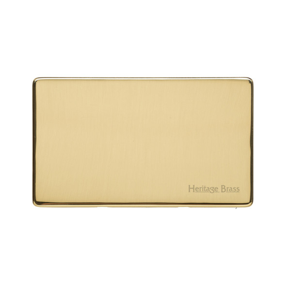 Studio Range Double Blank Plate in Polished Brass - Y01.232