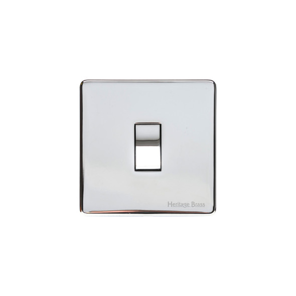 Studio Range 1 Gang Switch (10 Amp) in Polished Chrome - Trimless - Y02.200.PC