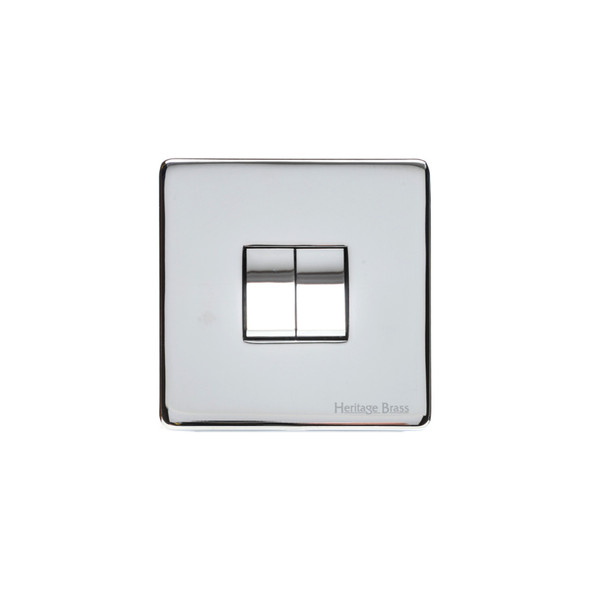 Studio Range 2 Gang Switch (10 Amp) in Polished Chrome - Trimless - Y02.210.PC