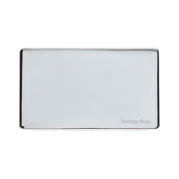 Studio Range Double Blank Plate in Polished Chrome - Y02.232