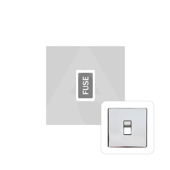 Studio Range Unswitched Spur (13 Amp) in Polished Chrome - White Trim - Y02.234.W