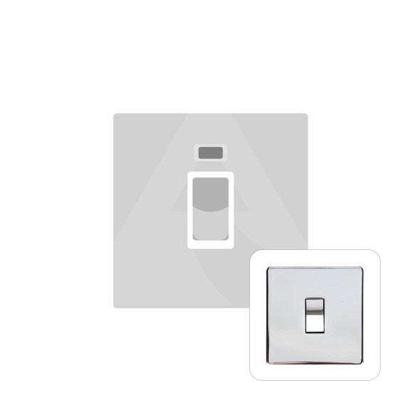 Studio Range 45A Switch with Neon (single plate) in Polished Chrome - Trimless - Y02.263.PC