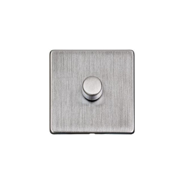 Studio Range 1 Gang Trailing Edge Dimmer in Satin Chrome - Trimless - Y33.260.TED
