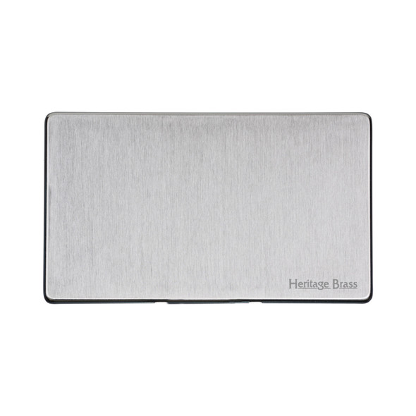 Studio Range Double Blank Plate in Satin Chrome - Y33.232