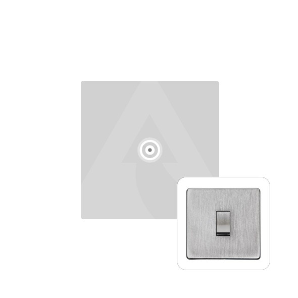Studio Range 1 Gang Non-Isolated TV Coaxial Socket in Satin Chrome - Black Trim - Y33.221.BK