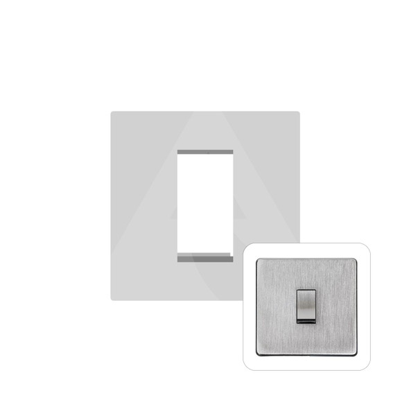 Studio Range 1 Module Euro Plate in Satin Chrome - PL.Y33.2691.G