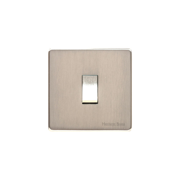 Studio Range 1 Gang Switch (10 Amp) in Satin Nickel - Trimless - Y05.200.SN