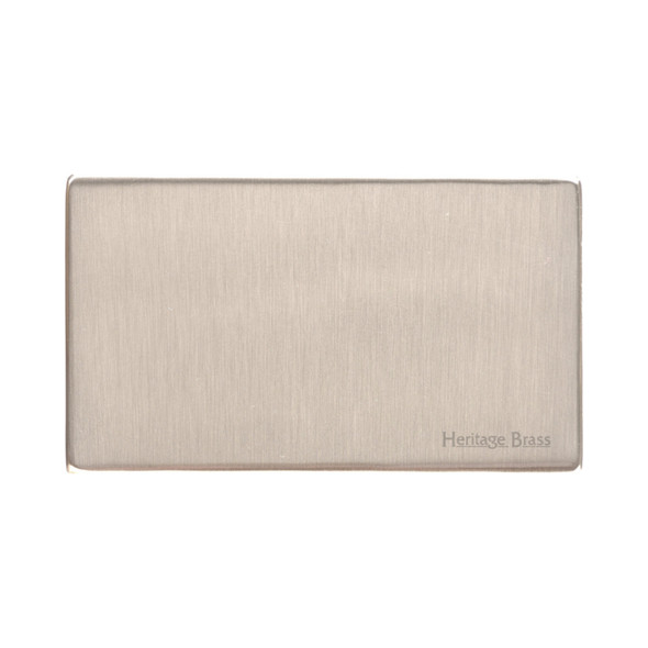 Studio Range Double Blank Plate in Satin Nickel - Y05.232
