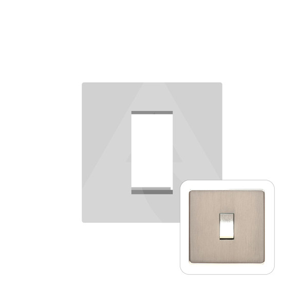 Studio Range 1 Module Euro Plate in Satin Nickel - PL.Y05.2691.G