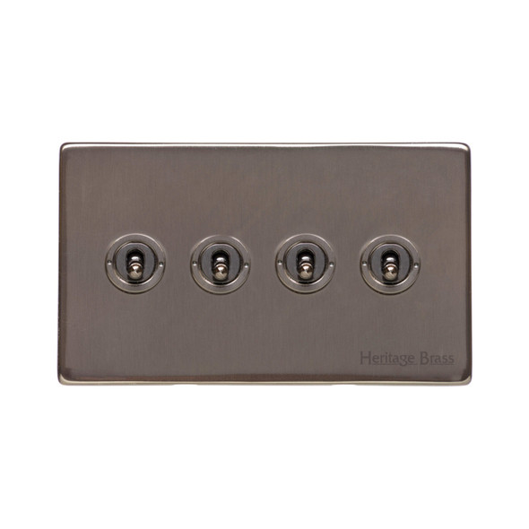 Studio Range 4 Gang Dolly Switch in Polished Bronze - Trimless - Y07.2430.BZ