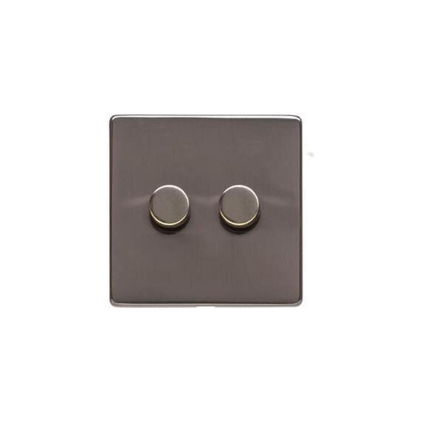 Studio Range 2 Gang Trailing Edge Dimmer in Polished Bronze - Trimless - Y07.270.TED