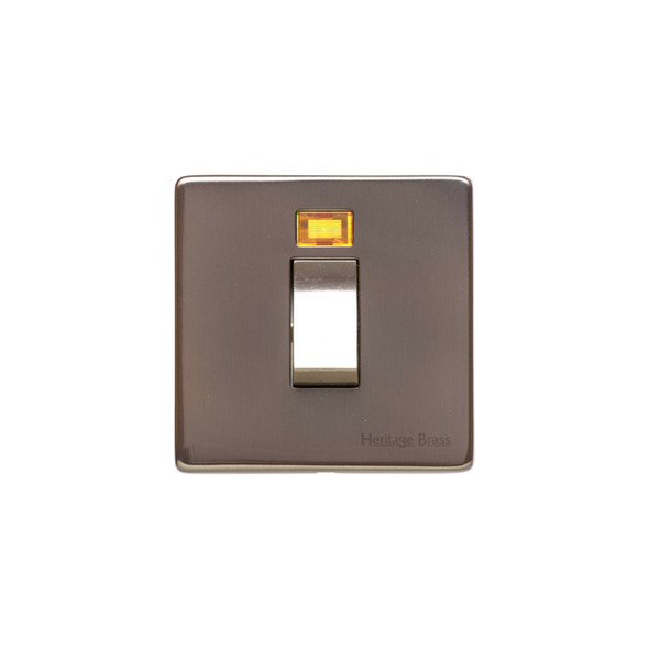 Studio Range 45A Switch with Neon (single plate) in Polished Bronze - Trimless - Y07.263.BZ