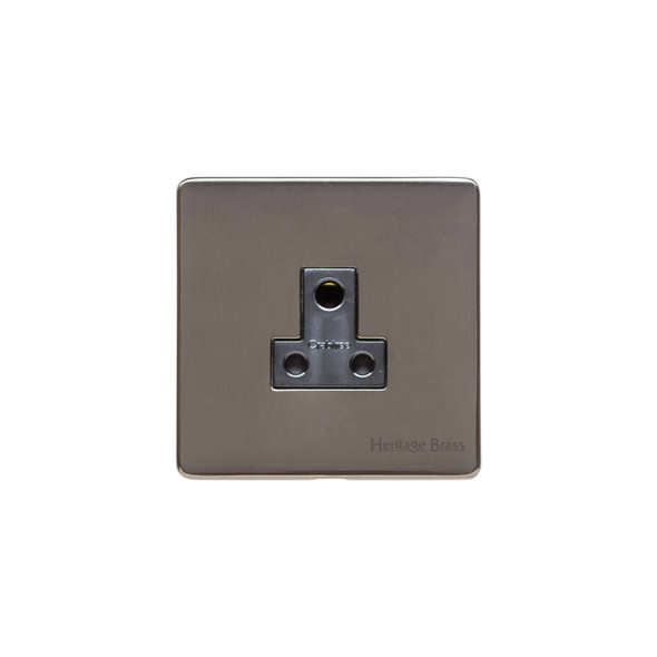 Studio Range 5 Amp 3 Round Pin Socket in Polished Bronze - Black Trim - Y07.282.BK